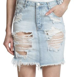 One Teaspoon distressed denim pencil high waisted